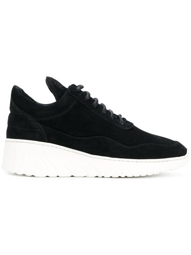 Filling Pieces Roots Runner Sneakers Leather Suede Rubber Black NpYhaWbzp