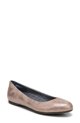 Dr. Scholl's Giorgie Flat Rose Gold Faux Leather rZVW5ZB0rd