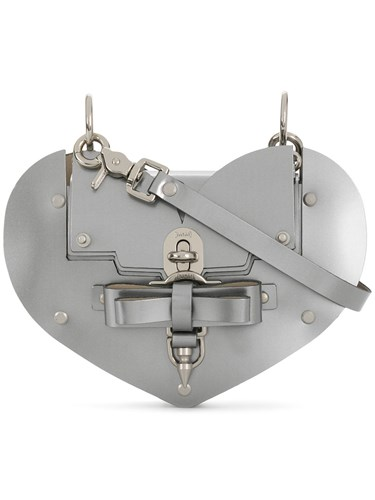 Niels Peeraer Heart Turn Lock Handbag Metallic BjEmPNx