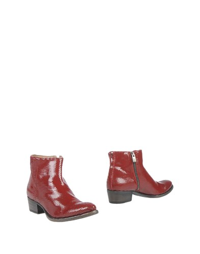 Pantanetti Ankle Boots Maroon 4VoQY