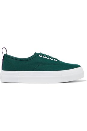 Eytys Mother Canvas Platform Sneakers Forest Green 815RQ5