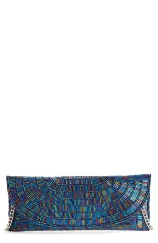 Nina Denelle Beaded Clutch Blue Navy Iris QSozHe9R