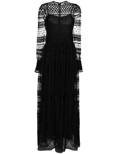 Philosophy di Lorenzo Serafini Geometric Lace Maxi Dress Black hWNfU8oYck