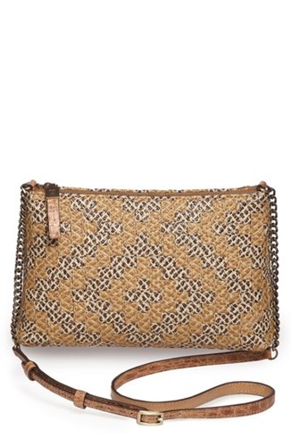 Eric Javits Pochette Squishee Crossbody Beige Natural Mix sWmPfA
