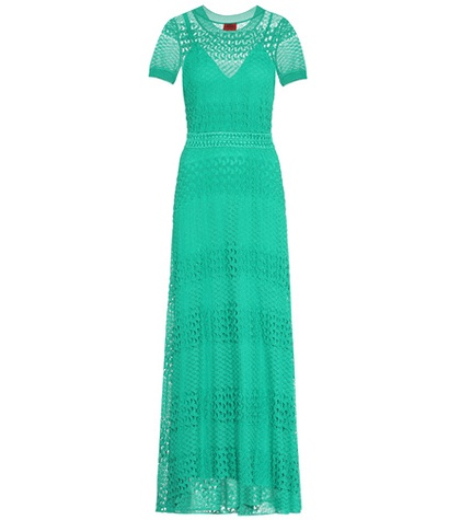 Missoni Crocheted Dress Green pFmmefM