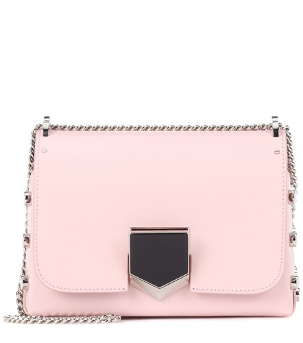 Jimmy Choo Lockett Petite Leather Shoulder Bag Pink u2eNXzT