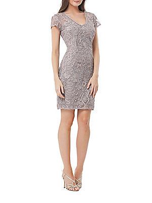 JS Collections Swirl Applique Cocktail Dress Cloud gFq8ry7kGK