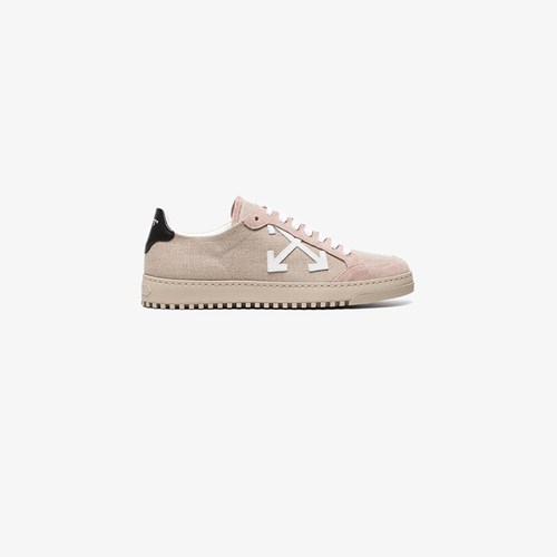 Off-White Nude Juta Suede And Canvas Sneakers Nude And Neutrals Vuos68
