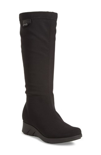 Mephisto Women's Minda Waterproof Wedge Boot Black Fabric ymHKULe73