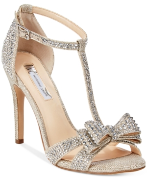 Bow Evening Rhinestone INC Concepts Only Macy's Shoes Reesie At Champagne Sandals Women's International Women's qXYq1