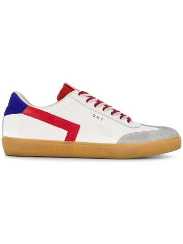 Leather Crown Colour Block Sneakers White 8M7wlt