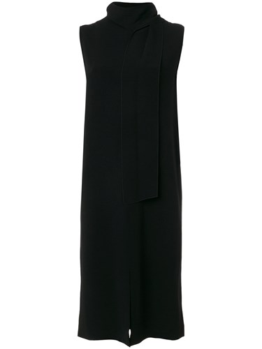 Spandex Acetate Dress Slit Detail Elastane Joseph Black Viscose wqEX4acI