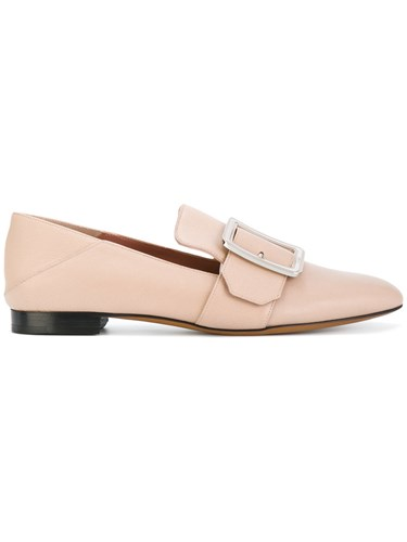 Bally Buckled Loafers Women Leather 38.5 Nude Neutrals vB9ZYHNw