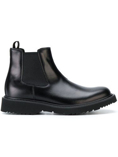 Prada Chelsea Boots Calf Leather Leather Rubber Black 2xmFCkW7Fs