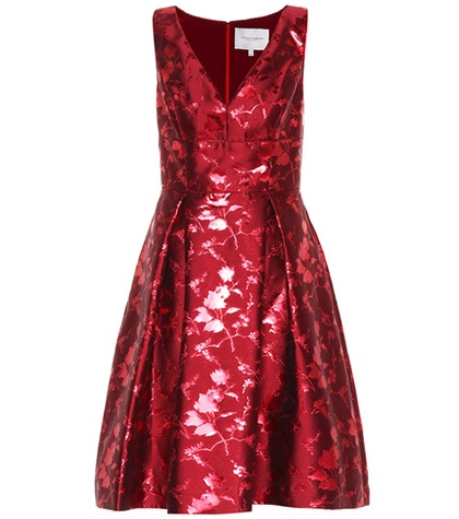 Carolina Herrera Sleeveless Jacquard Dress Red JFtYXbDFVH