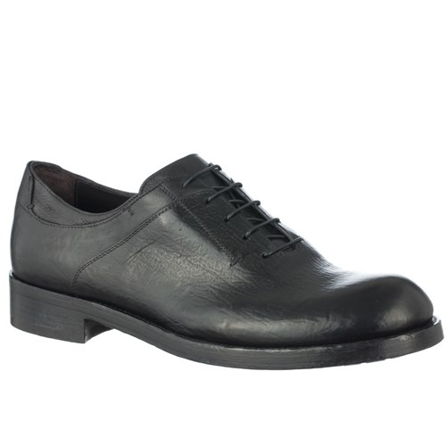 Corvari Shoes Lace Up Derby In Hand Aged Polished Leather Black nb1GV