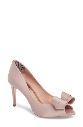 Ted London Toe Pink Vylett Peep Light Satin Baker Pump wvr5w