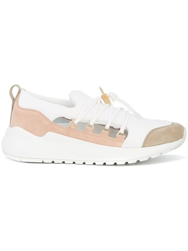 Buscemi Panelled Lace Up Sneakers Pink And Purple q2jcMlId1