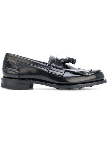 Church's Fringe Derby Shoes Calf Leather Leather Rubber Black FqBgvDTOuw