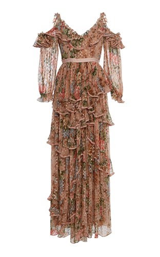 Needle & Thread Paradise Rose Shimmer Gown Floral Ci0ZTyT