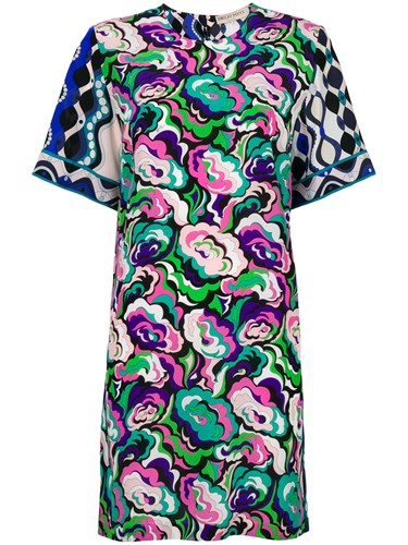 Emilio Pucci Abstract Floral T Shirt Dress Multicolour FeKhuWs08t