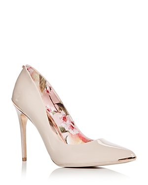 Ted Baker Women's Kaawa Patent Leather Pointed Toe Pumps Nude zrlivcWsJ