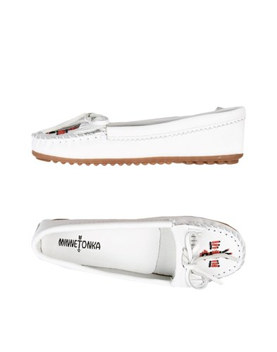 Minnetonka Loafers White o0wX6Yk1