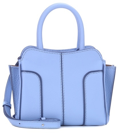 Tod's Sella Mini Leather Shoulder Bag Blue X00afN
