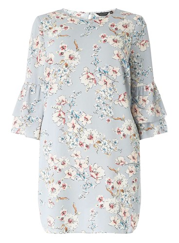 Dorothy Perkins Curve Plus Size Grey Floral Shift Dress ubJEqia5Zd