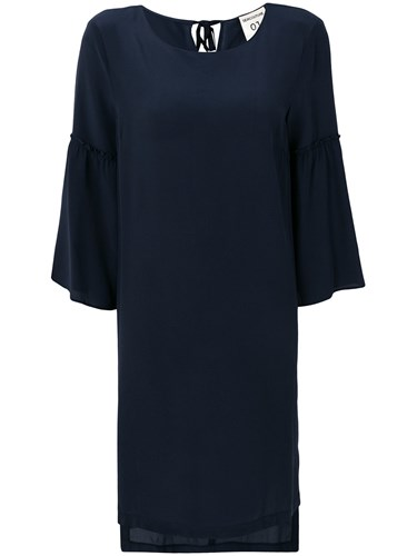 Semicouture Ruffle Detail Dress Blue C5rSR