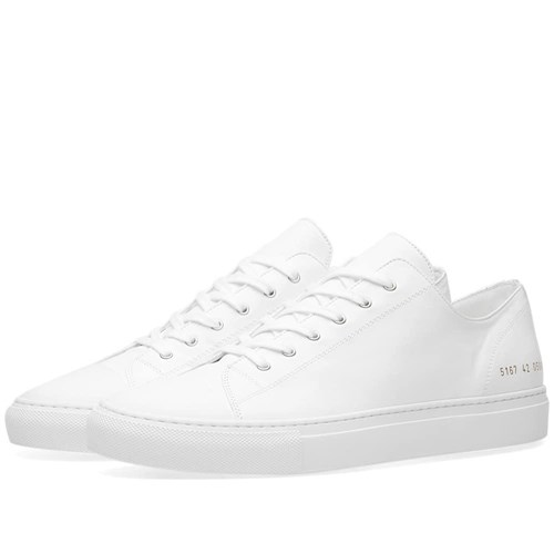 Common Projects Tournament Toe Cap Low White z4I5k