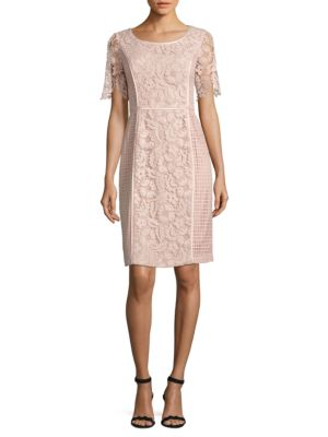 Nue by Shani Roundneck Lace Dress Pink S3b5xi