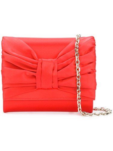 Casadei Clutch Red Draped Casadei Bow Bow Draped XF7Bqxx5