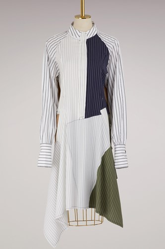 J.W.Anderson Patchwork Shirt Dress Desert aIlsyv