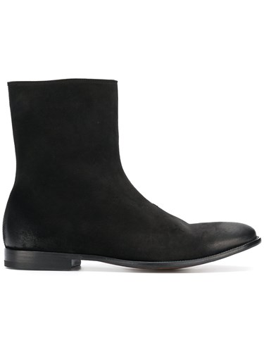 Alexander McQueen Distressed Ankle Boots Black wfGwKzFCV