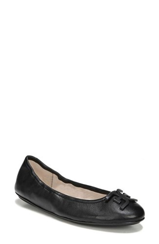 Sam Edelman Florence Ballet Flat Black Leather 6vE8ZdI