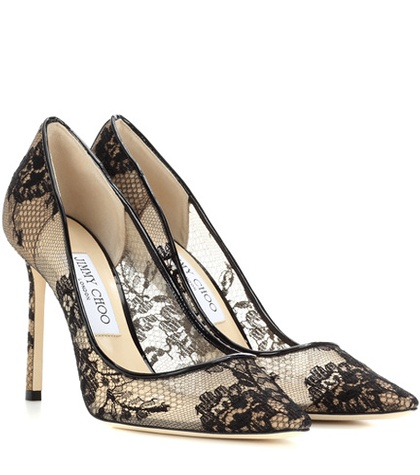 Jimmy Choo Romy 100 Lace Pumps Black Zhro4YYyP5
