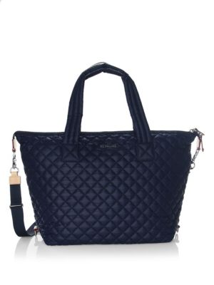 M Z Wallace Sutton Quilted Nylon Tote Navy Vih8MopOTr