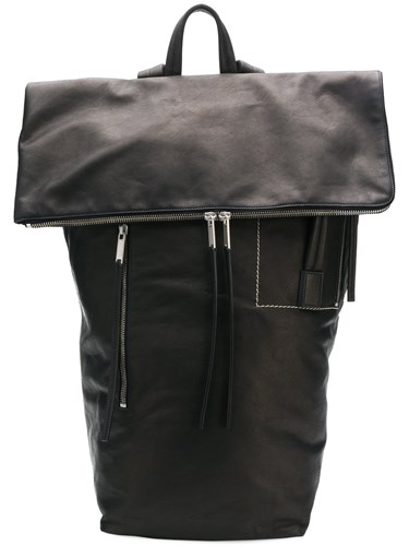Rick Owens Flap Backpack Black bbW9OLA