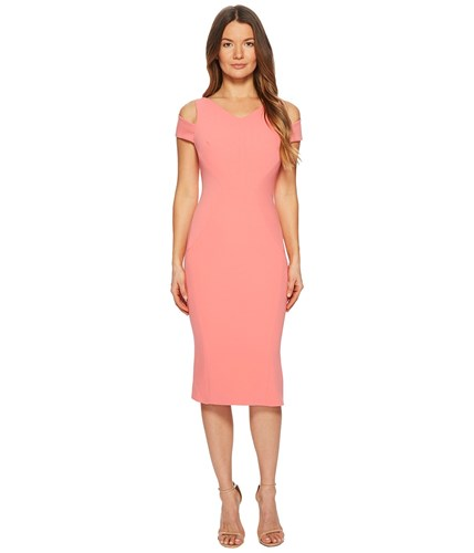 Zac Posen Bonded Crepe Cold Shoulder Cocktail Dress Peony Women's Dress Pink xTpYyry