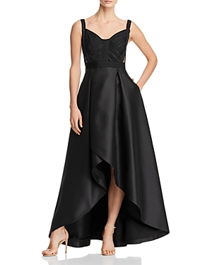 Adrianna Papell Lace Inset Ball Gown Black oH85zq6
