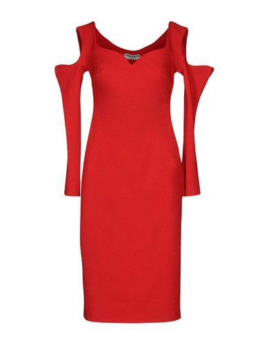 di Boni Petite Chiara Knee Dresses Red Length Robe La aPFwn