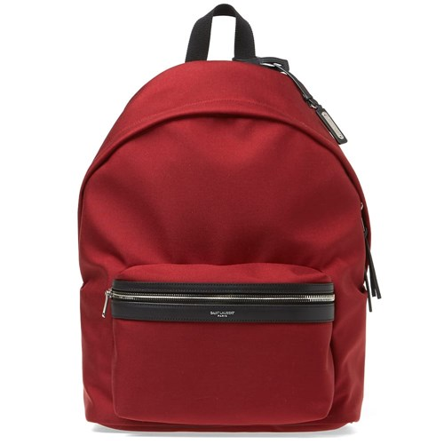 Saint Laurent Canvas City Backpack Red 6rszdHCEh