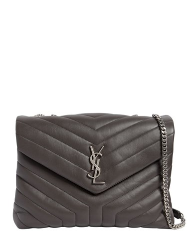 Saint Laurent Medium Loulou Monogram Leather Bag Grey ElsZPnKZd