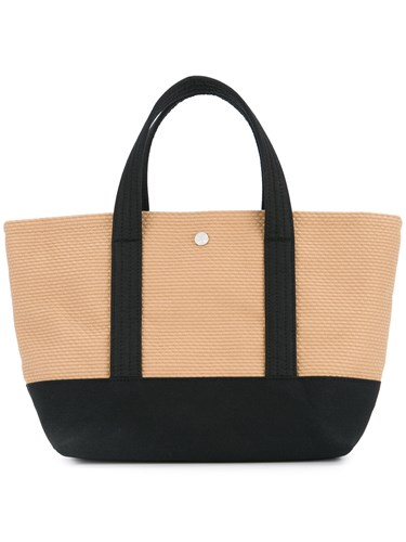 Cabas Knit Style Small Tote Bag Brown LOuKpd
