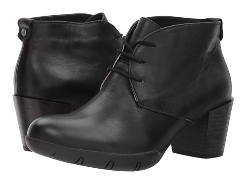 Wolky Bighorn Black Vegi Leather Dress Lace Up Boots wGJ24O