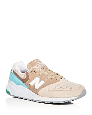 New Balance Men's 999 Suede Lace Up Sneakers Beige mBN4GN