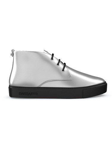 Swear Maltby Mid Top Sneakers Calf Leather Leather Rubber Metallic irGoGhiuB