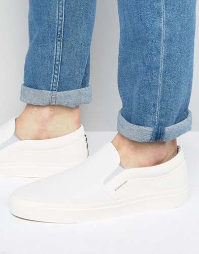 Jack and Jones Rush Slip On Sneakers White LxR0PP