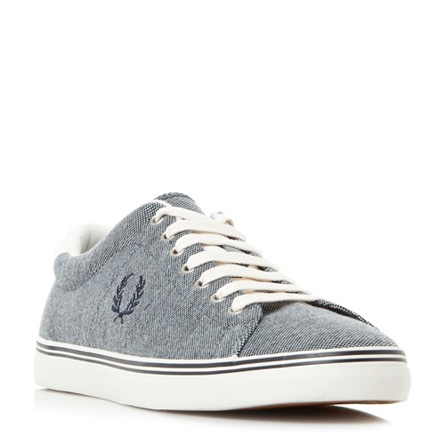 Fred Perry Underspin Oxford Fabric Sneakers Blue gCIGeE4